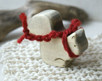 Wood n Wool Friend- Squirrel (ready to ship)