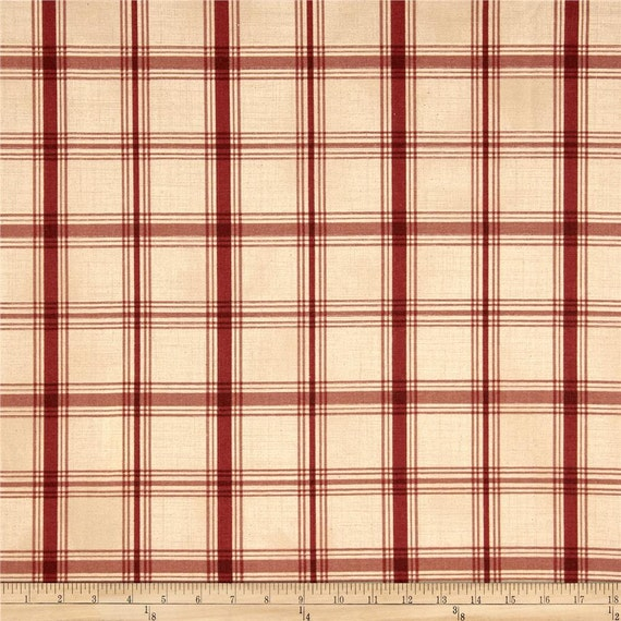 Crimson Red Plaid Kitchen Cafe Curtains For By