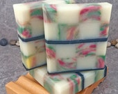 Mosaic Coconut Milk Soap Scented in Sparkling Apple Pear Fragrance