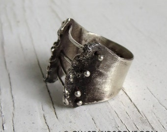 Sterling Silver Corset Ring, Handmade by Chase and Scout