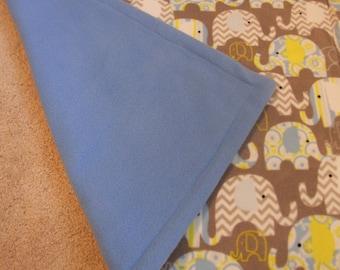 Extra Soft Fleece Elephant Baby Blanket