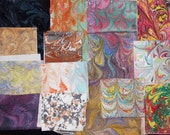 Hand Marbled Mixed Fabrics