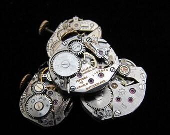 Assorted Vintage Antique Watch Movements Steampunk Altered Art Assemblage TM 99