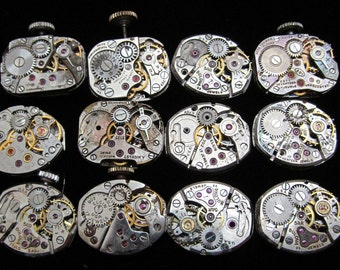 Assorted  Antique Vintage Steampunk Watch Movements Altered art Assemblage Industrial Art A 89