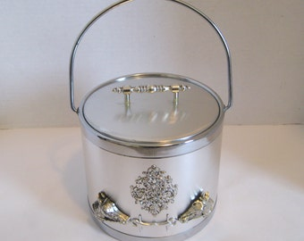 Vintage Silver Ice Bucket Horse Head Design Gambles Import Corp. Japan