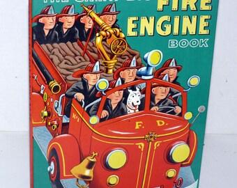 The Great Big FIRE ENGINE Book - Vintage - Children - Golden Book