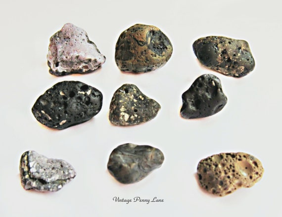 Coal Slag Rock : Volcanic stones lava rocks pebbles slag glass lake