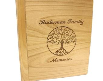 Alder Wood Photo Album,Personalized Photo Album,Custom Photo Album,Wedding Album,Tree of Life,Alder Wood Album