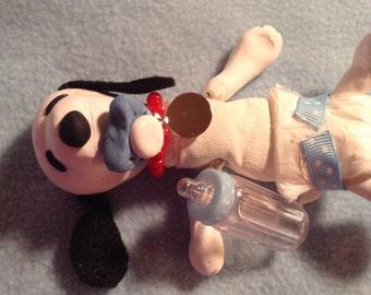 Polymer Clay Snoop Blue Baby Boy Cloth Body