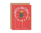 Happy Christmas From Our Door to Yours Illustrated Card//1canoe2