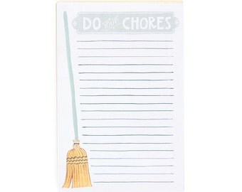 Do Your Chores Notepad // 1canoe2 // Hand illustrated