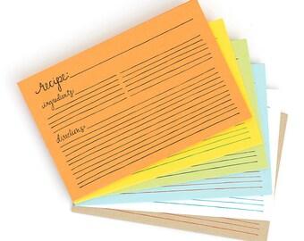 Letterpress Recipe Cards-21 Pack