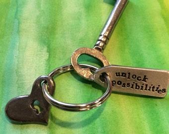 Unlock Possibilities Keyring