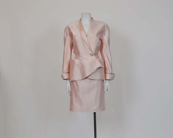 1980s suit / Thierry Mugler Avant Garde Vintage 80's Suit Jacket Skirt Set
