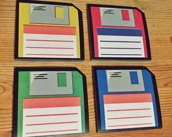 CLEARANCE! Floppy Diskette Memopad Set of 4