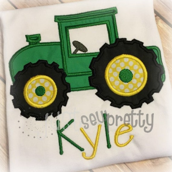 Tractor too embroidery applique design
