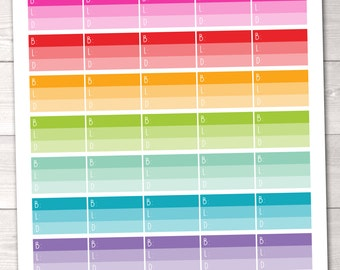 Breakfast Lunch Dinner Ombre Meal Planning Printable Planner Stickers PDF
