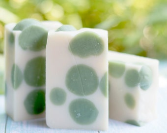 Lime Fizz Handmade Soap | Effervescent Lime, Lemon, Pinapple, and Petals