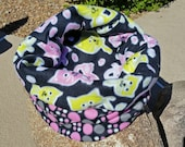 Snooze Sack for Cats - Lime and Pink