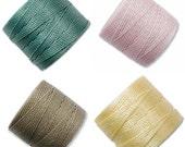 S-Lon Bead Cord  Sorbet Mixture 0.5mm Diameter 28592 (4 spool Pink S-lon, Yellow Braiding Cord, Green Crochet Thread, Macrame Cord, Superlon