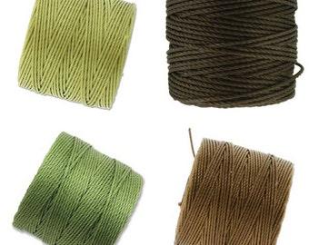 S-Lon Bead Cord  Garden Herbs Mixture 0.5mm Diameter 28591 (4 spools) Green S-lon, Braiding Cord, Crochet Thread, Macrame Cord, Superlon