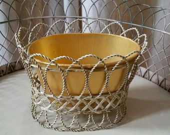 vintage wire cachepot