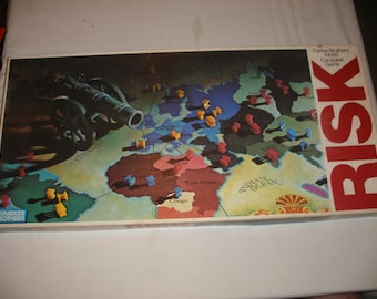Vintage 1980 Risk World Conquest Game by Parker Brothers 100% Complete