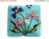 ON SALE 30% OFF 11834304 Kiley's Bouquet Pillow Focal Bead - Handmade Glass Lampwork Bead