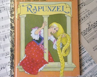 Golden Book Journal No. 028 Rapunzel -Made Just for YOU! Golden Book Journal with Hand Torn 140lb Cold Press Watercolor Paper