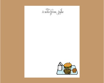 Cafeteria worker notepads, lunch lady notepad, cook, christmas gift