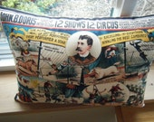 Reserved for Paulette - Circus Pillow - Double sided - so fun