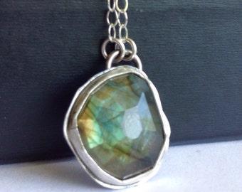 Labradorite Necklace - Labradorite Jewelry - Modern Bohemian Jewelry - Boho Chic - Boho Style