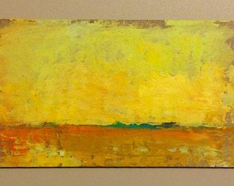MINI 1653, original painting, oil, landscape, 100% charity donation, on cardboard