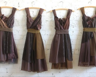 Custom Chocolate Brown Bridesmaids Dresses