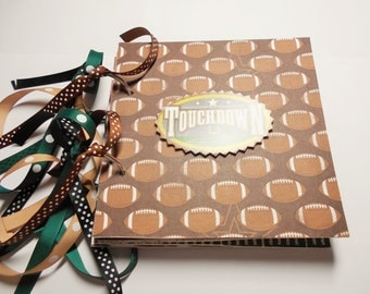 Football Mini Album, Mini Album, Football Album, Memory Album, 6x6 Album, Chipboard Album, Football Bragbook, Premade Album, Photo Album,