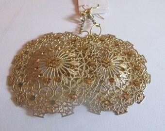 fancy gold dangle earrings