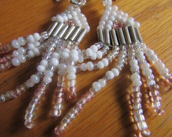 pink white indian tassel