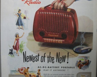 "Rad...138   ""Sentinel Radio""  Ad - May 1948"