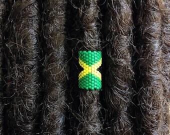 Jamaica Loc Jewelry, Dreadlock Accessory, Rasta Dread Bead, Cuff for Locs Braids Twists