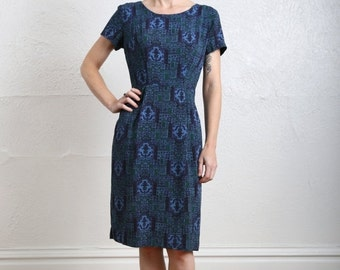 ON SALE 1950s Printed Dress