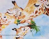 Giraffe #2 Art Print Wate...