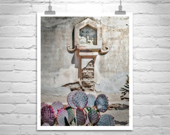 Jesus Art, Cactus Art, San Xavier, Spanish Mission, Church Art, Tucson Photo, Arizona Architecture, Mission Church, Catholic Art