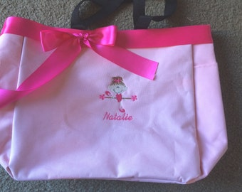Personalized Girls Toddler Ballerina Dance Tote Bag