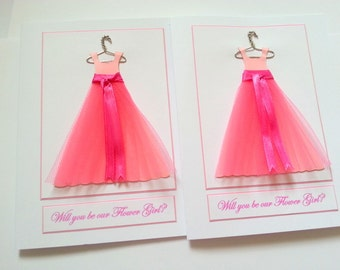 Will you be My Flower Girl Invitation Card,Be my Flower Girl Invite,Thank you for being my Flower Girl,Will you be our Flower Girl.Wedding