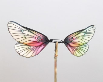 1/12 OOAK Butterfly wings for Dolls  -Classic Dragonfly - Pink Crystal