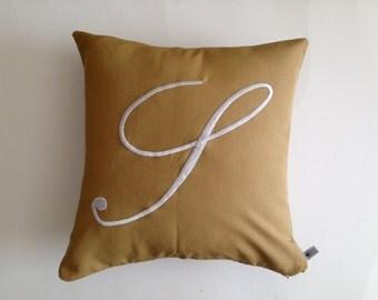 Outdoor monogram pillows, Boat pillows, Patio pillows, Birthday Gift, Housewarming Gift, Natural Color Pillows, Bench Pillows
