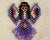 Beaded angel pin