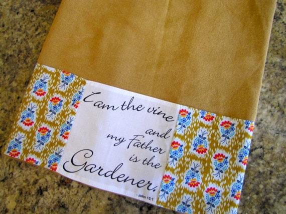 Scripture Modern Floral Kitchen Towel