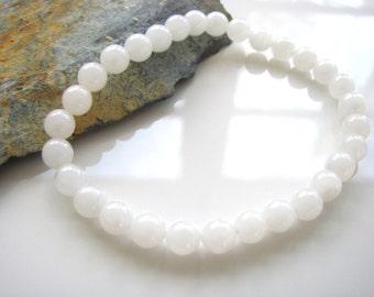 Stretch Gemstone Bracelet - Crystal Quartz - Yoga Jewelry, Meditation, Healing - Yoga Stretch Bracelet - Stackable Gem Bracelet
