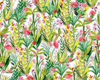 Flamingos Flora - Multi - Iza Pearl Design - Melissa Ybarra - Windham Fabrics